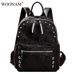 Wholesale Designer Bags Studs - Women Bag Luxury Quality Designer Backpack Selected Oxford Waterproof Canvas Medium Backpack WB394 Studs Bag