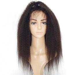 Wholesale lace wigs yaki straight - Best Italian Yaki 360 Lace Frontal Wig Pre Plucked Brazilian Remy Glueless Full Lace Front Human Hair Wigs for Black Women 180 Density