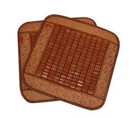 Enfriamiento del asiento online-45x45 CM Summer Home Cooling Chair Pad Cool Bamboo Cushion - Coche Summer Comfort Seat Pad transpirable silla de oficina cubierta estera