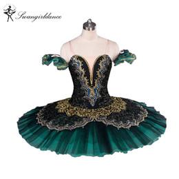2019 tutu de ballet adulto por atacado Adulto Preto Verde La Esmeralda Ballet Tutu desempenho profissional tutus ballet clássico meninas panqueca tutu nutcrackerBT8941