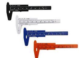 Wholesale Plastic Vernier - Plastic Measuring Tools Mini Vernier Calipers 1 mm mini Ruler Micrometer Gauge 80 mm Length Vernier Calipers Measurements for Promotion Gift