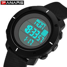 2019 cuenta atrás PANARS Sport Digital Watch Men Dual Timer 12/24 horas reloj de pulsera para hombre escalada Chrono Cuenta regresiva relojes Japan Battery 8105 rebajas cuenta atrás