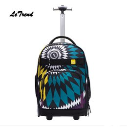 551c0730cce2 Letrend Rolling Luggage Student Backpack Men Large Capacity Women Travel  Bag Children Carry On Suitcases Wheel Trolley Trunk