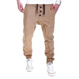 Männliche heiße hosen frei online-Heißer Verkauf der Qualitätsmänner dünne dünne passende männliche Hip-Hop Swagstrecken-Rüttlerhosen Sweatpants geben Verschiffen frei