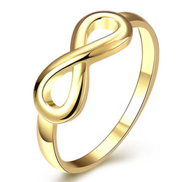 Wholesale Endless Love Rings - whole saleModyle Gold Silver Color Infinity Ring Eternity Ring Charms Best Friend Gift Endless Love Symbol Fashion Rings For Women