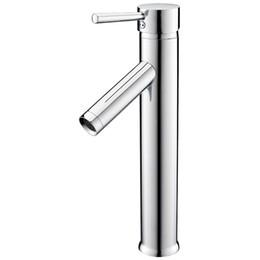 Grifo de baño cromo online-EWS-High Lavabo con una sola palanca Lavabo mezclador Grifo Lavabo Mezclador con una sola palanca altamente extendido Baño con cromo Baño S