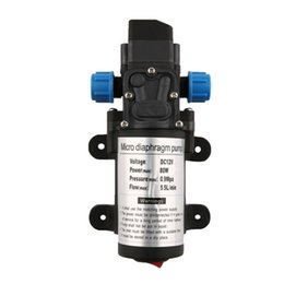 Wholesale Wash Pump - DC 12V 80W Electric Diaphragm Water Pump Automatic Switch 131 PSI High Pressure Car Washing Spray Water Pump 5.5L Min J35C37