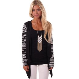 0a61e2ba67cd6 Chaqueta de punto Mujer Suéter de punto azteca Casual Rayas de manga larga  Tops Chaquetas de punto Suéter Aire acondicionado Camisa asimétrica