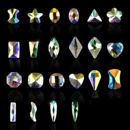 Schmuck nagel kunst versorgung online-New 5pcs pack Oval Shaped Flat AB Rhinestone Shiny Diamond Nail Art Decorations DIY Beauty Nail Jewelry Supplies