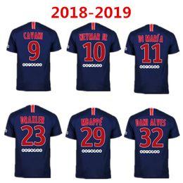 078fc3003 18 19 neymar jr soccer jersey home 2018 2019 mbappe CAVANI PASTORE DRAXLER  away Paris football shirts survetement maillot de foot customize
