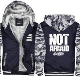 e6ef33b19f704 Tamaño de la UE Abrigo de camuflaje de invierno Sudaderas gruesas Chaqueta  casual Sudadera con capucha de Eminem Hip Hop Punk Rock Rap Rock Hip Hop  Chándal ...