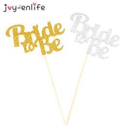 Wholesale Bachelorette Decor - JOY-ENLIFE 1pcs Glitter Bride To Be Cake Cupcake Topper Wedding Decor Hen Night Party Bachelorette Party Bridal Shower Supplies