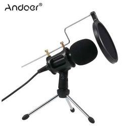 Microfone vocal on-line-3.5mm Microfone Condensador Plug Mic Play Home Studio Podcast Microfones de Gravação Vocal para iPhone Portátil PC Tablet Microfone