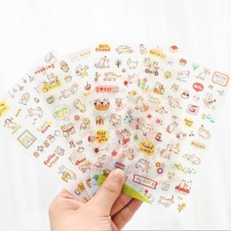 Wholesale Animals Planner - 11 Different Style Cute Stickers Kawaii Stickers Scrapbooking Animals Sticker Planners Deco Pvc Diary Sticker for School Supply