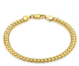Silber armband allergie online-18 k gold mann armbänder gold silber link langlebig farbe erhaltende allergie günstigsten link gold schmuck 5mmx20cm 15