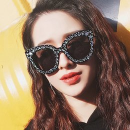8a91a7aa53a3e Discount celebrities sunglasses - MIZHO 2018 Original Brand Celebrity  Oversized Square Sunglasses Women Crystal Mirror Retro