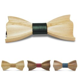 Wholesale Ties For Best Men - Jbersee Novelty Fashion Bow Ties for Men Best Quality Classic Wood Bowtie 3D Handmade Butterfly Wood Bow Tie Gravata Silm