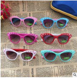 großhandel schöne sonnenbrille Rabatt 2018 new fashion schöne mehrfarbige transparente kunststoff schmetterling rahmen grau linse druck baby Kinder Sonnenbrille großhandel 1369