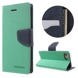 Wholesale leather covers for diaries - New Mercury Fancy Diary Stand Leather Wallet Case for iPhone X 8 7 6 plus Samsung Galaxy S9 S8 S7 Note 8 Protective Cover
