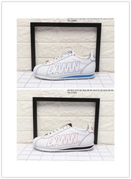 Wholesale High Ocean - 2018 Mens Womens Cortez Kendrick Lamar Damn Running Shoes For Sale High Quality White Red Sneaker size:36-44