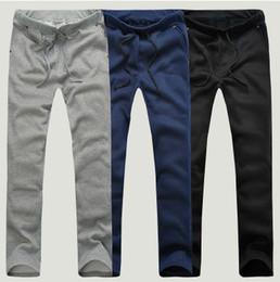 Wholesale Cheap Tracksuits - Mens Casual Pants 2017 Spring&Autumn Men's Cheap Sweatpants 3Colors M~XXL Plus Size Casual Straight Tracksuit Trousers Pants