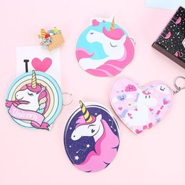 Wholesale Fabric Animal Coin Purses - For Women Wallets Animal Horse Unicornio Pattern Coin Storage Bags With Metal Zipper Unicorn Purse Factory Direct Sale 4 8sma XB