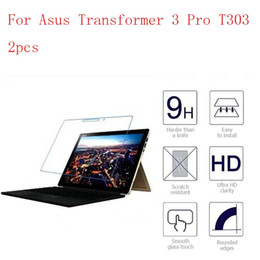 Wholesale Asus Hd Tablet - For Asus Transformer 3 Pro T303 Tablet 9H HD Clear Tempered Glass Screen Protector film Screen Guard 2pcs in 1 package