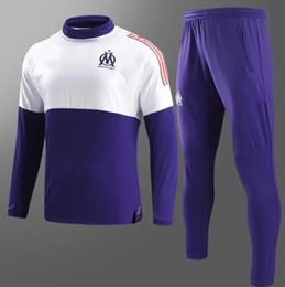 Wholesale Marseille Football Jersey - HIGH QUALITY 17 18 Olympique de Marseille Champions League soccer Jersey 2017 2018 GOMIS CABELLA PAYET Marseill football TRACKSUIT