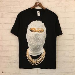2019 хип-хоп носит IH NOM UH NIT Paris футболка белый черный лицо печатный хлопок тройники бренд дизайн женщины мужчины хип-хоп Tee Club Wear Top SHH0408 скидка хип-хоп носит