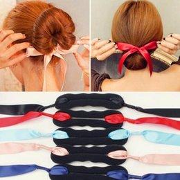 Wholesale Korean Wigs Women - 2017 Korean Style Bud Head Ball Head Disk Donuts Dish Hair Hairdressing tools For Women Hair Accessories