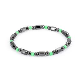 Wholesale magnetic healing - Magnetic Black Gallstone Bracelet Fashion Healing Natural Hematite Beads Elasticity Rope Bracelets For Women Man Jewelry