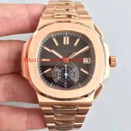 meilleures montres suisses Promotion Meilleur Montres BP Usine 40.5mm Nautilus 5980 / 1R-001 Or Rose 18 Carats Suisse CAL.9015 CH 28-520 C Mouvement Montre Homme Automatique Montres