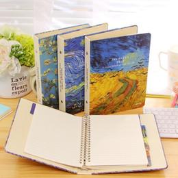 2019 fiore di notte A5 Classico Spira Notebook Vintage Van Gogh Plum Blossom Segale Cielo notturno Diario Diario Planner Materiale scolastico per ufficio regalo di compleanno sconti fiore di notte