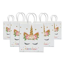 Детские подарочные коробки для душа онлайн-С Днем Рождения Подарочные Пакеты Сумка Конфеты для Партии Baby Shower Девушка Бумаги Коробка Конфет Подарочная Упаковка Праздничные Атрибуты