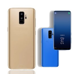 Wholesale Wholesale Indonesia - 6.2HD S9 Phone 1GB Ram 8GB Rom MTK6580 S9 plus Quad Core S9+ Mobile Phone 1440*720 8MP Rear Camera Sealed Box show 4G 64G 4G LTE