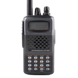 2019 radios yaesu General para walkie talkie YAESU FT-60R de banda doble 137-174 / 420-470MHz FM Ham Transceptor de radio bidireccional yaesu FT60R radio radios yaesu baratos