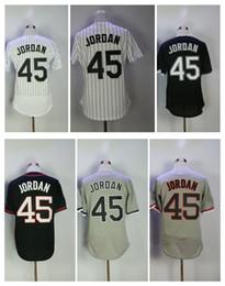 Wholesale Men Polo Shirt Stripe - 45 Michael Men's Baseball Jerseys Fashion Jersey Stripe White BlackSize M-XXXL Men polo shirt