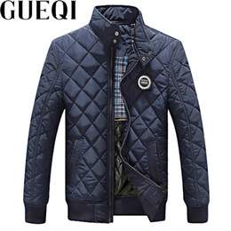 Wholesale Boys Add - GUEQI ADD Fleece Men Warm Parkas Plus Size L-3XL Stand Collar Boys Casual Outerwear 2017 Man Winter Black Jackets
