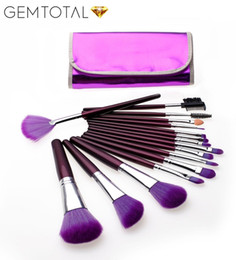 Canada Nouveau Professional 16 PCS Purple Maquillage Brushes Set Outils Maquillage Trousse De Toilette portable Make Up Brush Set Cas Cosmétique Foundation Brush supplier professional purple brush cases Offre