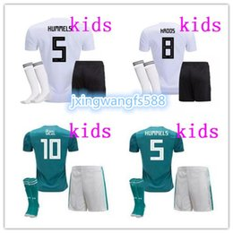 Wholesale Germany Kits - world cup 2018 GERMANY kids soccer jersey kit home away 18 19 OZIL KROOS MULLER DRAXLER football uniform youth kids jerseys