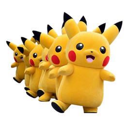 Wholesale Deluxe Mascot - 2018 Top Grade Deluxe Pikachu Mascot Costume Cartoon Character Costumes Mascot Costume Fancy Dress Party Suit