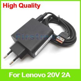 Carregador usb para ipad2 on-line-20v 2a 5.2v 2a usb adaptador de energia ac para lenovo yoga 3 14 tablet pc carregador ADL40WCD 36200563 36200564 ADL40WCE ADL40WCF 36200565