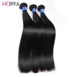 Wholesale Cheap Straight Brazilian Hair - Brazilian Virgin Hair Straight 3 Bundle 100g Cheap Mink Brazilian 7A Unprocessed Virgin Hair 100% Human Hair Weaving HC Extensions