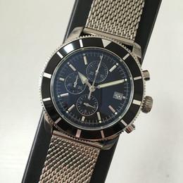Relojes superocean online-Lujo caliente de alta calidad SUPEROCEAN deportes cronógrafo cuarzo hombres reloj de acero inoxidable 46 mm relojes para hombre regalo orologio di lusso