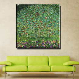 Wholesale gustav klimt pictures - ZZ735 Gustav Klimt flower Printed Painting On Canvas Wall Art Picture For Living Room Home Decor Or Hotel Unframed free shipping