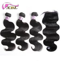 Wholesale Brazilian Extensions Prices - xblhair wholesale price body wave bundles and lace closure human hair extensions remy human hair bundles