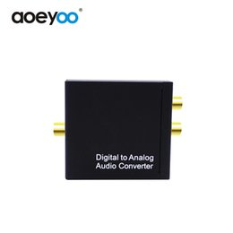 Wholesale Analog Stereo - AOEYOO Digital Converter Digital Spdif Toslink signal To Analog L R RCA Audio Adapter Optical With 3.5mm Audio Output Metal Case