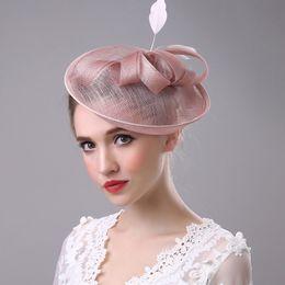 100% Handmade Bow Feather Headwear Wedding Vintage Pillbox Hat With Veil  Lepoard Bowknot Gauze Patchwork Fedora Woman Felt Cap women formal hats for  sale 5aa0e4766ca