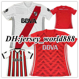 Wholesale River Football - Top Thai quality 17 18 RIVER PLATE 3RD Home jersey soccer TEO D,ALESSANDRO BALANTA CAVENAGHI VANGIONI 2018 River Plate AWAY Football shirt