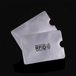 sacchetti ziplock rossi Sconti Foglio di alluminio Anti-scan Schermatura RFID Schermatura Manicotto di sicurezza ID magnetico IC Porta carta di credito NFC ATM Protettore di sicurezza senza contatto